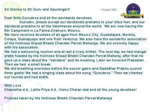 All Glories to Sri Guru and Gauranga 1