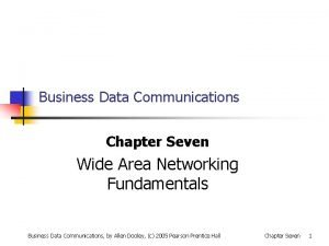 Business Data Communications Chapter Seven Wide Area Networking