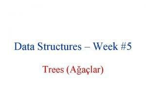 Data Structures Week 5 Trees Aalar Trees Aalar
