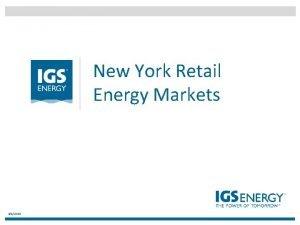 New York Retail Energy Markets 342021 AGENDA 1