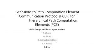 Extensions to Path Computation Element Communication Protocol PCEP
