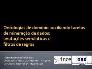 Ontologias de domnio auxiliando tarefas de minerao de