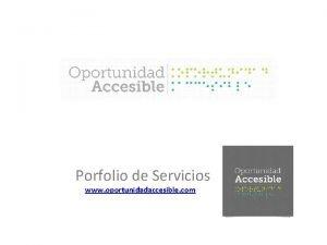 Porfolio de Servicios www oportunidadaccesible com Playas Accesibles