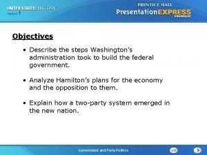 125 Section Chapter Section 1 Objectives Describe the