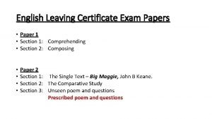 English Leaving Certificate Exam Papers Paper 1 Section
