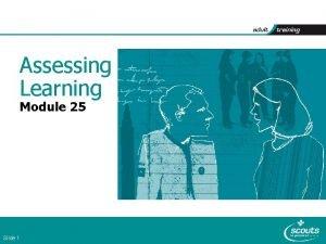 Assessing Learning Module 25 Slide 1 Module 25