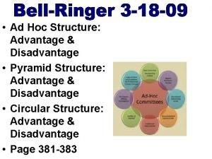 Ad Hoc Structure Advantage Disadvantage Pyramid Structure Advantage