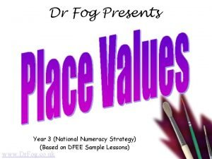 Dr Fog Presents Year 3 National Numeracy Strategy