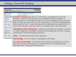 Adding a Smart Fit Position A Smart Fit