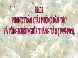TIET 23 BI 16 PHONG TRO GII PHNG