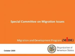 Special Committee on Migration Issues i Migration and