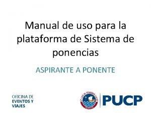 Manual de uso para la plataforma de Sistema