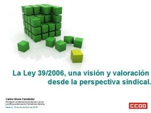 La Ley 392006 una visin y valoracin desde