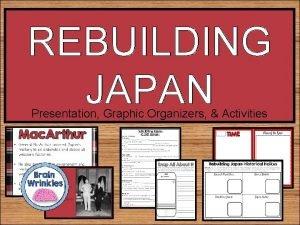 REBUILDING JAPAN Presentation Graphic Organizers Activities STANDARDS SS