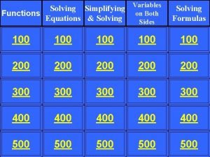 Solving Simplifying Variables on Both Functions Equations Solving