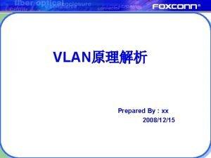 VLAN Prepared By xx 20081215 Index l VLAN