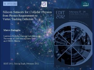 Silicon Sensors for Collider Physics from Physics Requirements