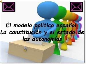 El modelo poltico espaol La constitucin y el