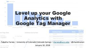 Level up your Google Analytics with Google Tag