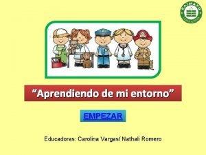 Aprendiendo de mi entorno EMPEZAR Educadoras Carolina Vargas