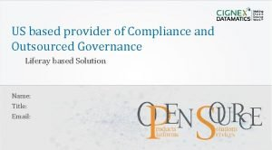 US based provider of Compliance and Outsourced Governance