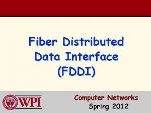Fiber Distributed Data Interface FDDI Computer Networks Spring