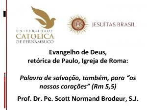 Evangelho de Deus retrica de Paulo Igreja de