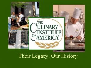 Their Legacy Our History Chef Joseph Mur Chef