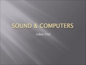 SOUND COMPUTERS Adam Diel History In 1981 IBM