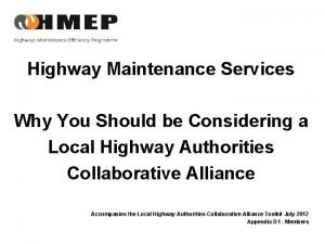 Highway Maintenance Services Why You Should be Considering