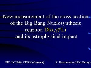 New measurement of the cross section of the