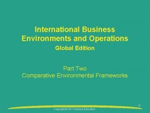 International Business Environments and Operations Global Edition Part