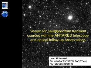 Search for neutrinos from transient sources with the