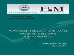 ESCUELA DE ENFERMERIA CICLO DE LICENCIATURA EN ENFERMERIA