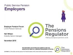 Public Service Pension Employers Employer Pension Forum LGSS