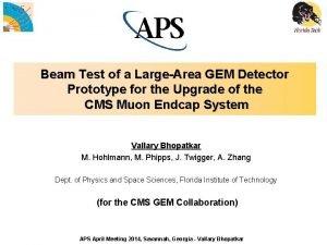 Beam Test of a LargeArea GEM Detector Prototype