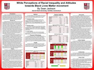 White Perceptions of Racial Inequality and Attitudes towards