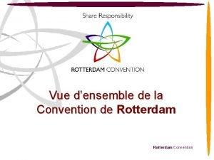 Vue densemble de la Convention de Rotterdam Convention
