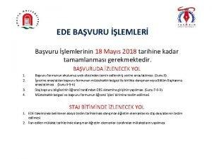 EDE BAVURU LEMLER Bavuru lemlerinin 18 Mays 2018