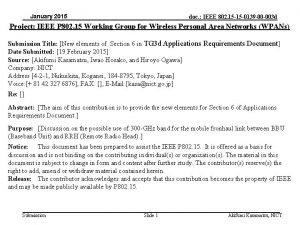 January 2015 doc IEEE 802 15 15 0139