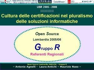 USR 2005 2006 Cultura delle certificazioni nel pluralismo