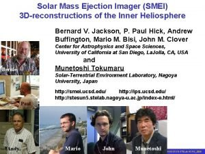 Solar Mass Ejection Imager SMEI 3 Dreconstructions of