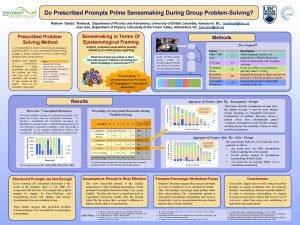 Do Prescribed Prompts Prime Sensemaking During Group ProblemSolving