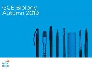 GCE Biology Autumn 2019 Recordior Sain Audio Recording