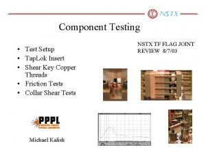 Component Testing Test Setup Tap Lok Insert Shear