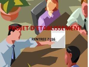 PROJET DETABLISSEMENT RENTREE 2016 RAPPEL PROJET ACADEMIQUE Objectif