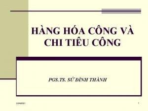 HNG HA CNG V CHI TIU CNG PGS