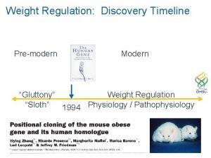 Weight Regulation Discovery Timeline Premodern Modern Gluttony Weight
