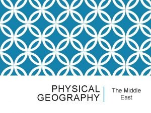 PHYSICAL GEOGRAPHY The Middle East THE MIDDLE EAST