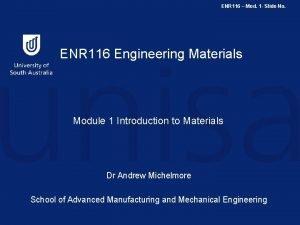 ENR 116 Mod 1 Slide No ENR 116